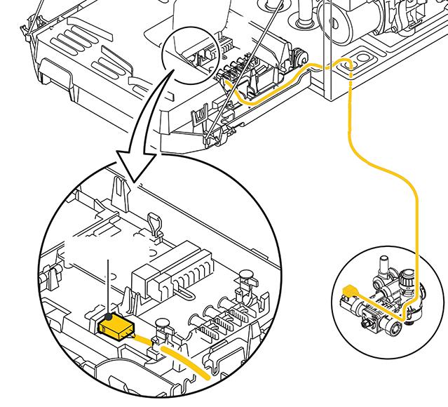 Elektrisch aansluiten automatische (bij)vulinrichting